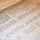 Libro de contabilidad escrito a mano