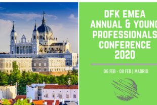 Cartel de la conferencia anual DFKMadrid 2020