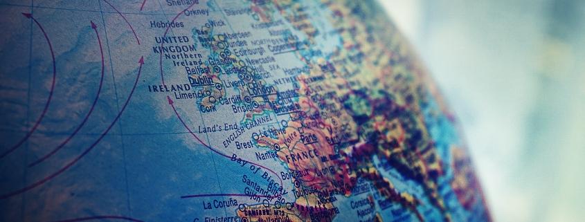 Mapa del mundo en el que se ve España