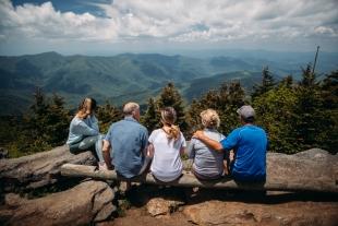 Una familia, a la muntanya