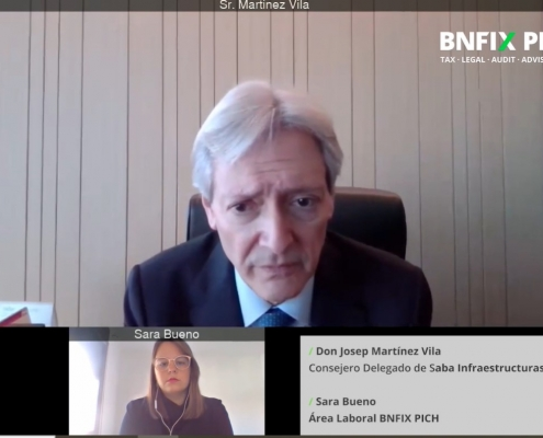Josep Martínez Vila, conseller delegat de Saba, entrevistat per Sara Bueno.
