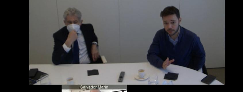 Valentí Pich, con Kilian Garcia y Salvador Marín