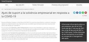 Captura de pantalla de la Generalitat